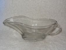 Anchor Large 10 Ounce Clear Glass Gravy Boat- Made in USA