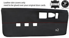 RED STITCH 2X FULL DOOR CARD LEATHER COVERS FOR CAMARO FIREBIRD 82-92 3RD GEN