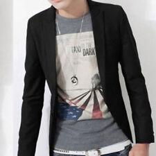 Men Slim Fit One Button Formal Suit Blazer Long Sleeve Business Coat Jacket Tops