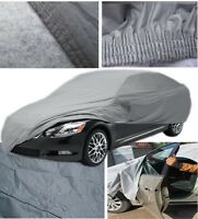 Extra Large XL Heavy Duty 100% Waterproof Outdoor Full Car Cover Zip Breathable