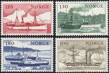 Norway 1977 Ships/Boats/Nautical/Sailing/Paddle-Steamer/Transport 4v set n44873