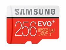 Samsung 256GB Evo Plus UHS-I MicroSDXC Memory Card with Adapter