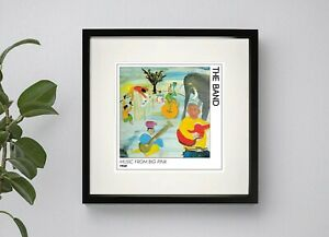 THE BAND - MUSIC FROM BIG PINK  BOX FRAMED PRINT ARTWORK 3 Sizes Black or White