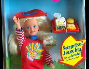 1993 Happy Meal Stacie Doll Barbie Sister McDonalds NRFB with Surprise Jewelry