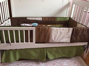 10 Pcs Baby Boys sports / animal desing Bedding Set Nursery Quilt Bumper Sheet