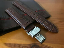 18MM Tissot BROWN Leather Strap For Tissot Watches| Tissot Silver Buckle