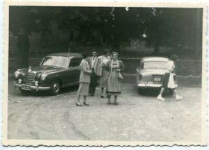 Orig. Foto AUTO MERCEDES 220 schwarzes Kennz. S 64 405, u.a. aus SÜD-AFRIKA 50er