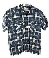 Dickies Men's Long Sleeve Work Shirt Blue Plaid Size 3XL New NWT