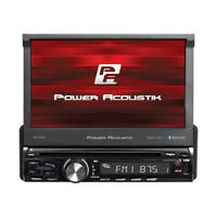 "POWER ACOUSTIK PD-720B CAR 1DIN DVD BLUETOOTH STEREO W/ MOTORIZED 7"" TOUCHSCREEN"