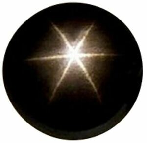 Natural Extra Fine Black Star Sapphire - Round Cabochon - AAA+ Grade - Unheated,