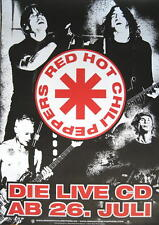 RED HOT CHILI PEPPERS POSTER LIVE HYDE PARK