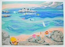 """GEORGES LAMBERT """"SUR LA PLAGE"""" Hand Signed Limited Edition Art Lithograph"""
