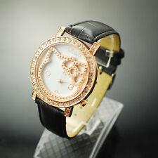New Big Face Lovely Hello Kitty Girls Ladies Wrist Watch Quartz Fashion Black 12