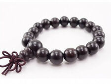 Tibetan 19 10mm Black Sandalwood Yoga Meditation Prayer Beads Mala Bracelet