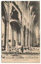 Carte Postale Ancienne CPA Grande Guerre Soissons Bombardé Cathédrale 1914-17