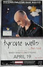 TYRONE WELLS / WAKEY! WAKEY! 2013 SAN DIEGO CONCERT POSTER - Folk Pop Music