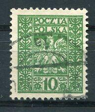 POLOGNE, 1928-29, timbre 347, ARMOIRIES, oblitéré