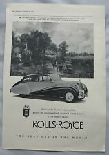 1950 Rolls-Royce Original advert No.1