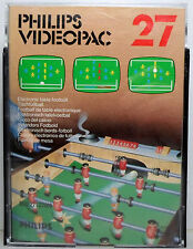 PHILIPS VIDEOPAC 1980 # 27 ELECTRONIC TABLE FOOTBALL EUROPEAN PAL COMPLETE VHTF