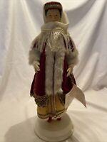 "Vintage Evelt Greek Porcelain Doll Traditional Dress 14"" realistic Benaki Musea"