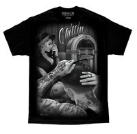 DGA David Gonzales Art Fresh Cut Chillin Pinup Greaser Tattoo Rockabilly T Shirt