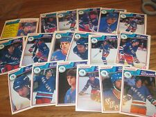 83/84 OPC HOCKEY NEW YORK RANGERS TEAM SET 18 DIFF CARDS PACK FRESH