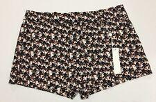 NWT $198 TRINA TURK CORBIN 3 Twill All Over Palm Tree Papaya Shorts Size 4