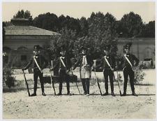Reconstitution historique, soldats sardes, 1795 Vintage silver print Tirage ar