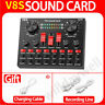 V8S External Sound Card Audio Mixer Studio Microphone Live Streaming Broadcast
