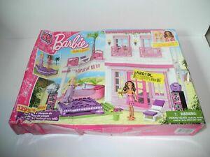 NEW Damaged Box Mega Bloks Barbie Beach House 80226 129 PCS Build 'n Style