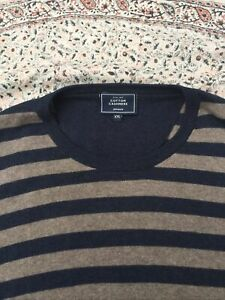 JOHN LEWIS - Taupe-Charcoal - Cotton/Cashmere - Jumper - XXL - New No Tag