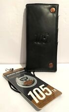 Harley Davidson Motorcycles 105th Anniversary Black Leather Tri Fold Wallet