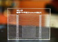 WELLER LP vinyl Phonograph Pickup Tonearm VTA balance & Azimuth Ruler 65*45*8mm
