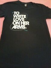 To Write Love On Her Arms T shirt Women's Juniors Small Twloha