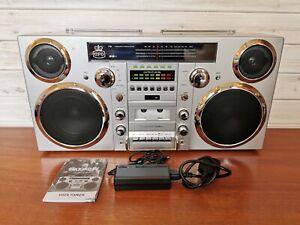 GPO Brooklyn Vintage Retro Boombox Ghetto Blaster - DAB+, CD Player, Bluetooth