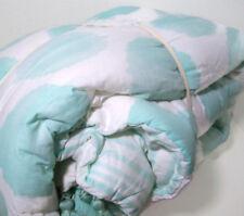 Pottery Barn Kids Multi Colors Light Blue Water Color Dot Full Queen Quilt Shams