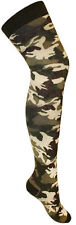 New Ladies Women Camouflage Long Over The Knee Socks - Fancy Army Dress