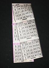 BINGO PAPER Card 3 on 2  Black and Purple 50 packs 100 sheets  FREE SHIP