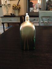 BEAUTIFUL TIKI TORCH JAEGERMEISTER BOTTLE GREEN AND GOLD SLAGGED HAND PAINTED