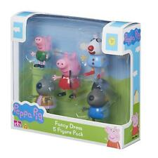 Carácter Options Peppa Pig Fancy Vestido Figura de acción paquete de 5