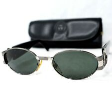 Gianni Versace S72 sunglasses vintage silver black oval large medusa head small