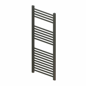 Straight Heated Towel Rail - 1200mm x 500mm - Anthracite - Roma - 5 Year Guar...