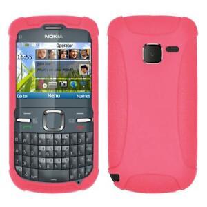 AMZER Silicone Skin Jelly Case for Nokia C3