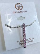 GIANI BERNINI CZ PINK SLIDE - Necklace Sterling Silver Retail $120