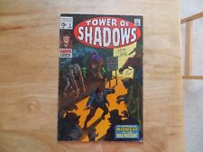 1969 SILVER AGE TOWER OF SHADOWS # 5 SIGNED 2X GENE COLAN & ROY THOMAS WITH POA