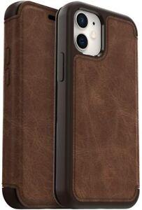 OtterBox Strada Series Leather Folio Case for Apple iPhone 12 Mini - Espresso
