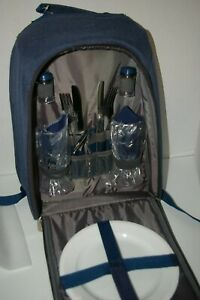 Picnic Time PT-Colorado Insulated Backpack Cooler Navy blue NWOT