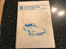 JAGUAR E TYPE 2+2 FIXED HEAD COUPE SERIES 3 PARTS Catalogue Manual 1974 RTC9015