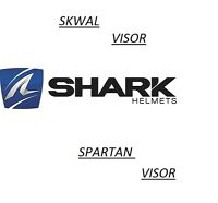 Shark Skwal/Spartan Helmet Dark Clear Visor CHROME IRIDIUM VISOR SKWAL/SpartanV4