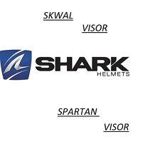 Shark Skwal/Spartan Helmet Dark Clear Visor CHROME IRIDIUM VISOR SKWAL/SpartanV4